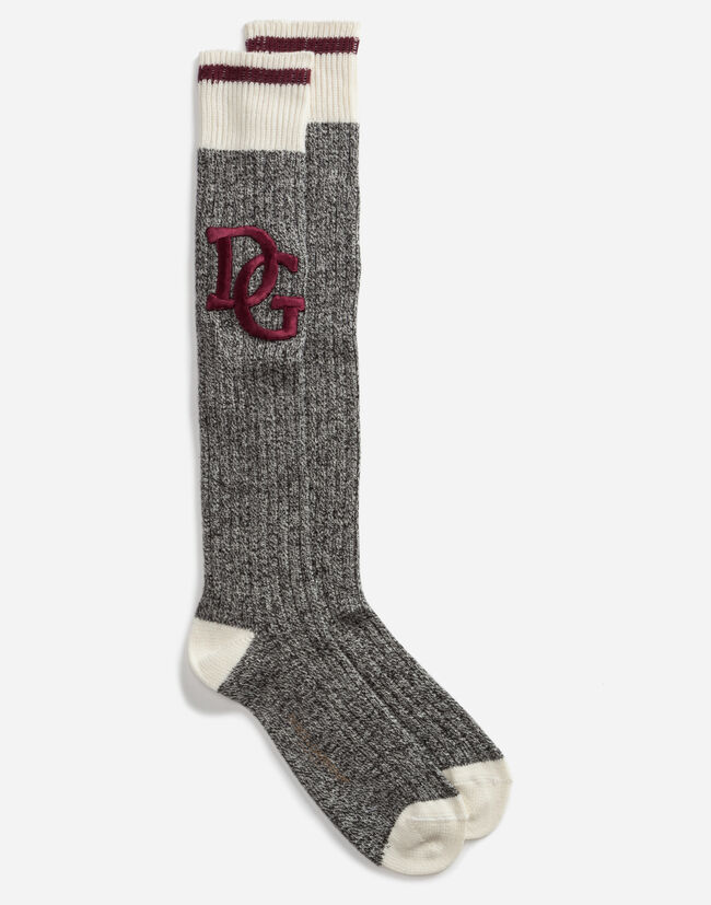 WOOL SOCKS WITH PATCH