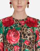 Dolce & Gabbana DRESS IN PRINTED BROCADE