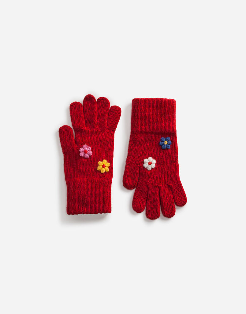 Dolce&Gabbana WOOL GLOVES WITH APPLIQUÉ