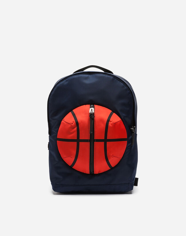 NYLON BACKPACK WITH BASKETBALL DETAIL