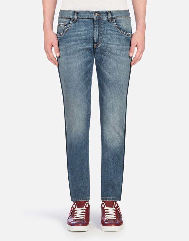 STONEWASHED STRETCH COMFORT JEANS
