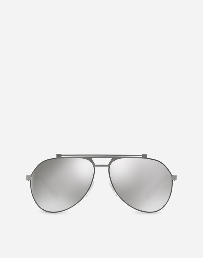 SHINY METAL AVIATOR SUNGLASSES