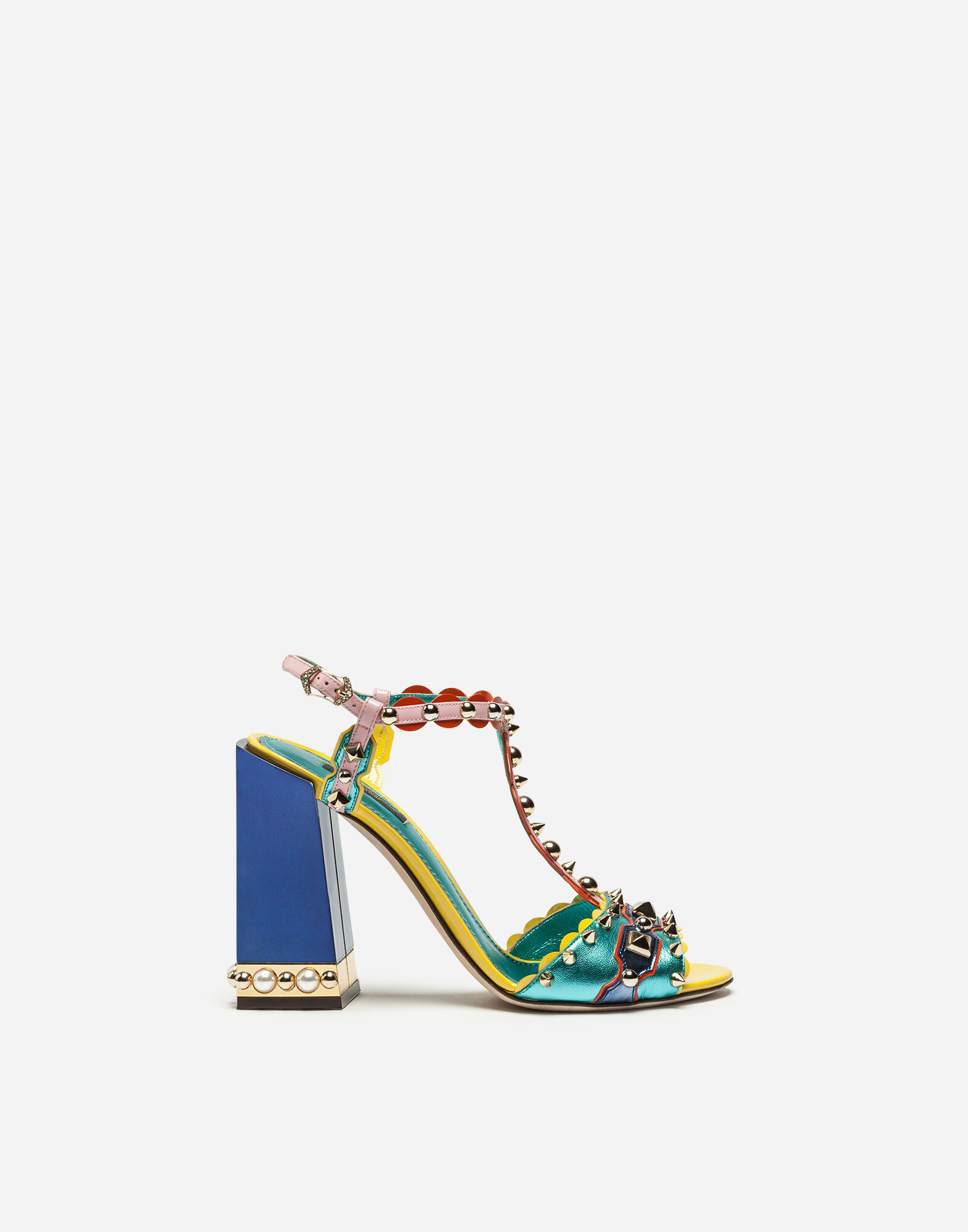 Dolce & Gabbana Woman Crystal-embellished Fringe-trimmed Printed Patent-leather Sandals Red Size 35.5 Dolce & Gabbana kjiB5LCP8