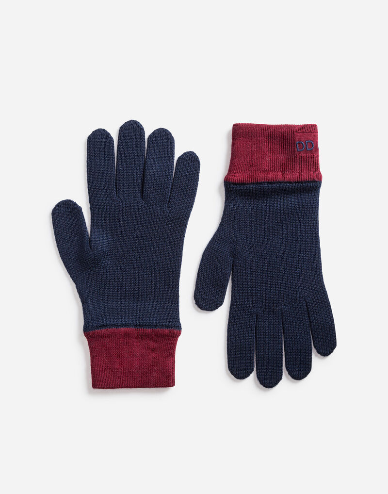 GLOVES IN WOOL WITH EMBROIDERY