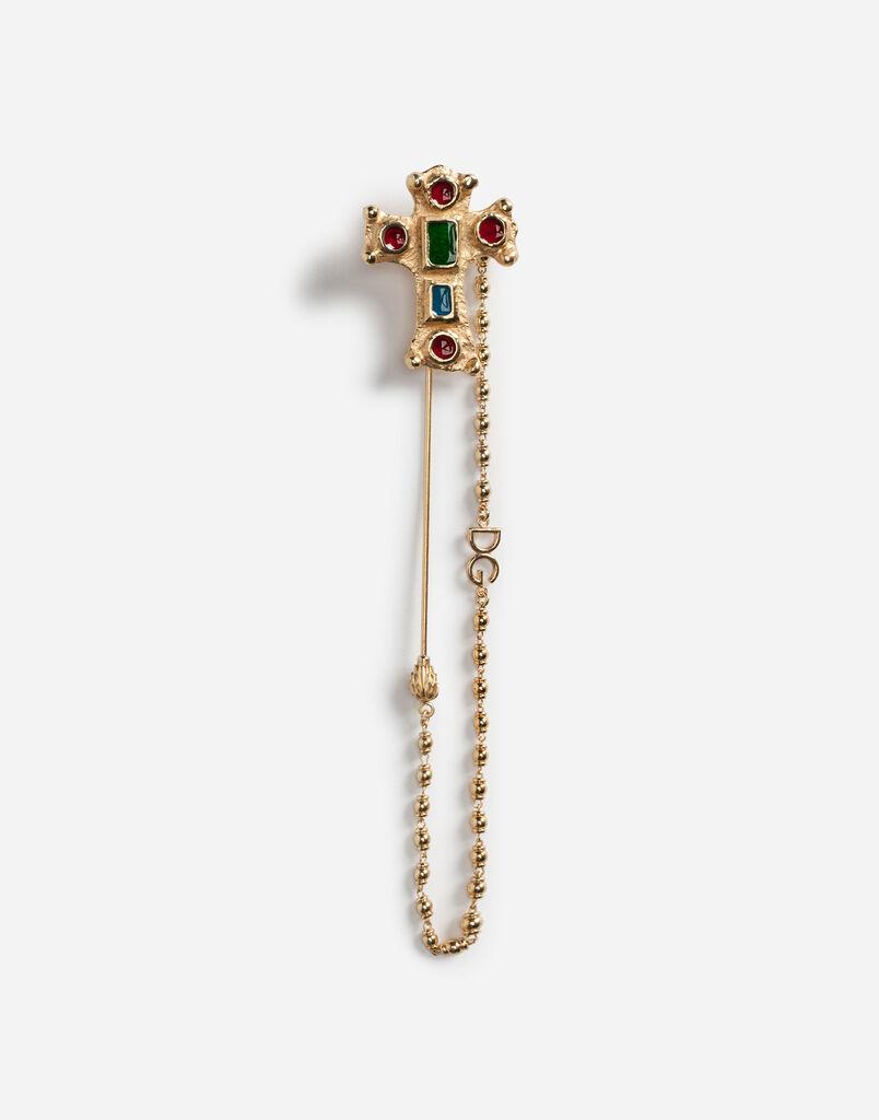 Dolce&Gabbana METAL PIN WITH CROSS