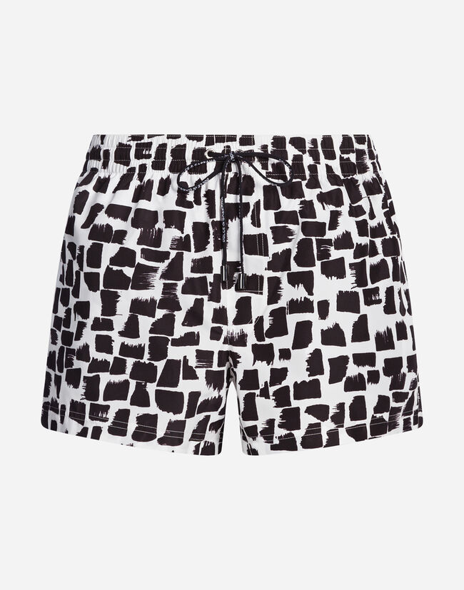 SHORT PRINTED SWIMMING TRUNKS