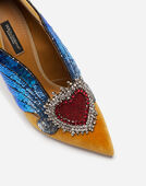 Dolce & Gabbana VELVET PUMPS WITH EMBROIDERIES