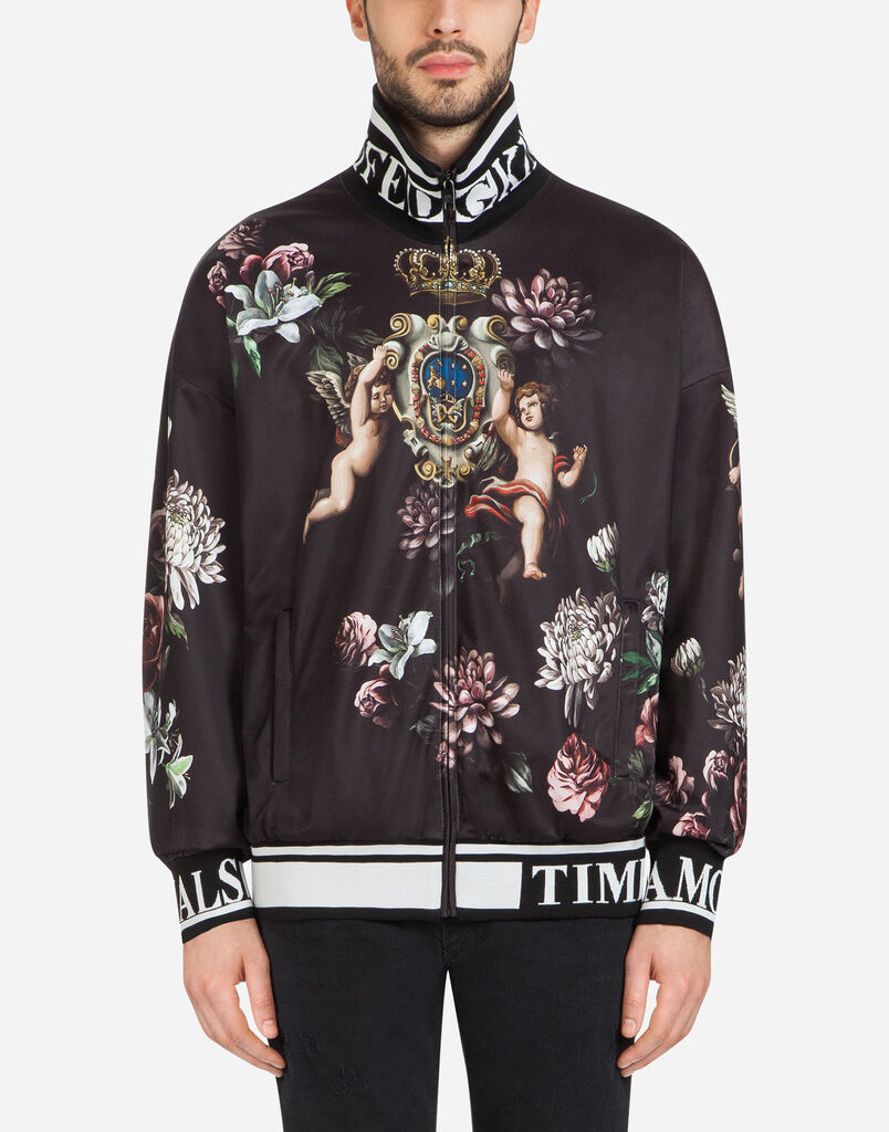Dolce&Gabbana PRINTED SWEATSHIRT WITH ZIPPER