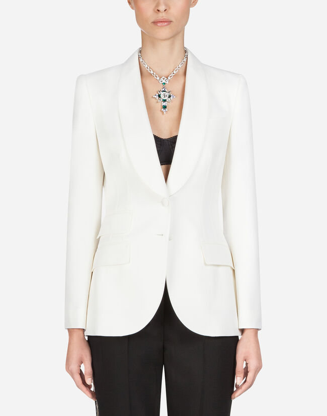 Dolce & Gabbana SINGLE-BREASTED BLAZER IN STRETCH WOOL