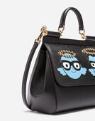 Dolce&Gabbana MEDIUM LEATHER SICILY BAG WITH PATCHES OF THE DESIGNERS