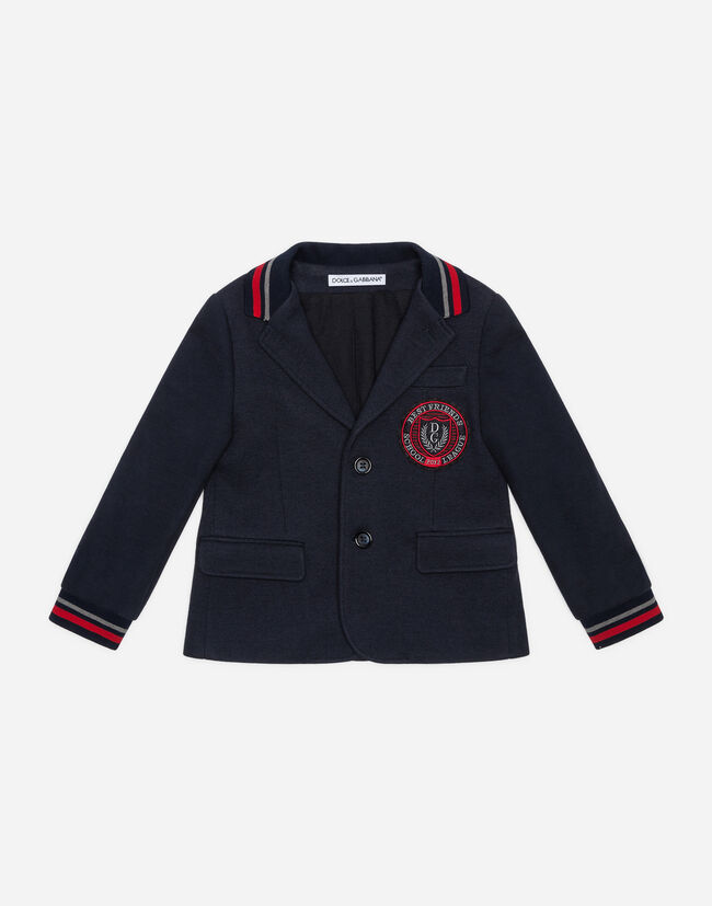Dolce&Gabbana WOOL JACKET WITH PATCH