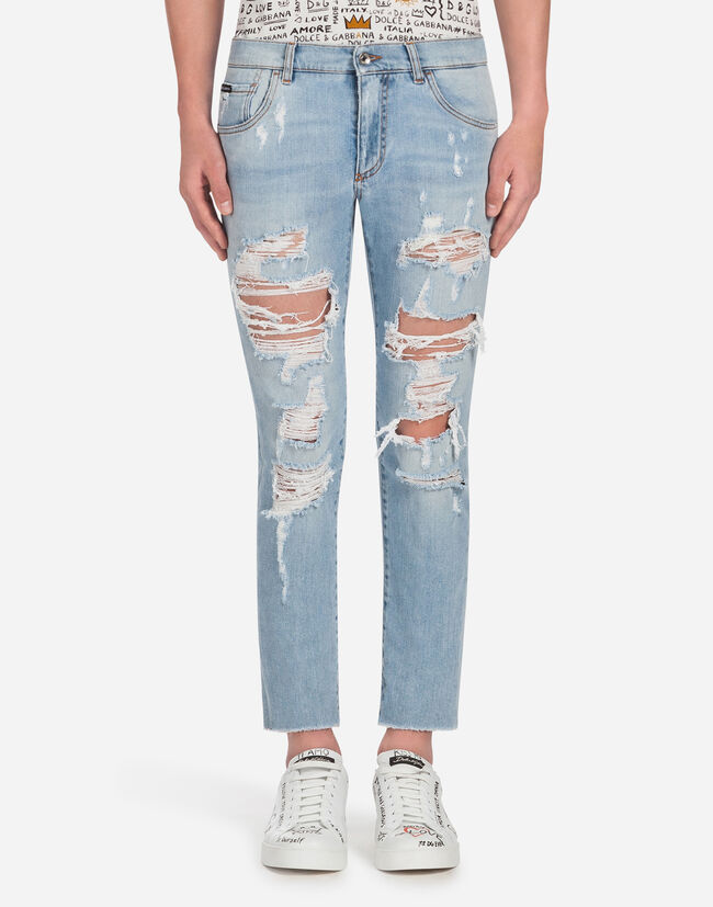 RIPPED JEANS IN COMFORT DENIM