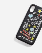 Dolce&Gabbana IPHONE X COVER WITH RUBBER MURAL DETAIL