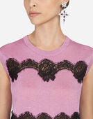 Dolce & Gabbana LUREX SWEATER WITH LACE INLAY