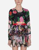Dolce & Gabbana PRINTED SILK KNIT