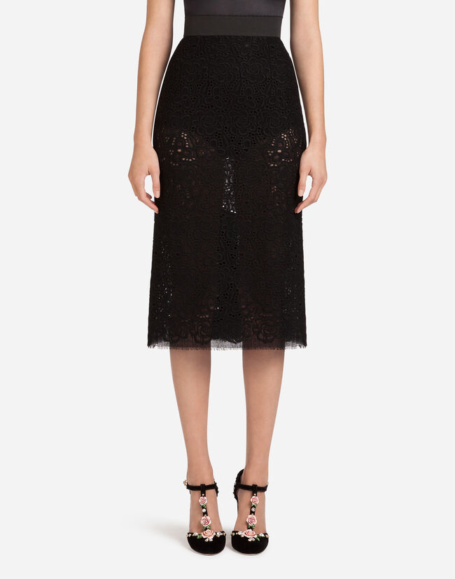 WOOL LACE TUBE SKIRT