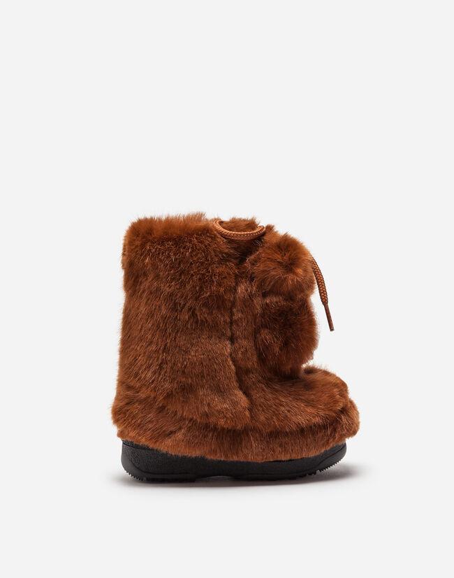 Dolce & Gabbana FAUX FUR SNOW BOOTS