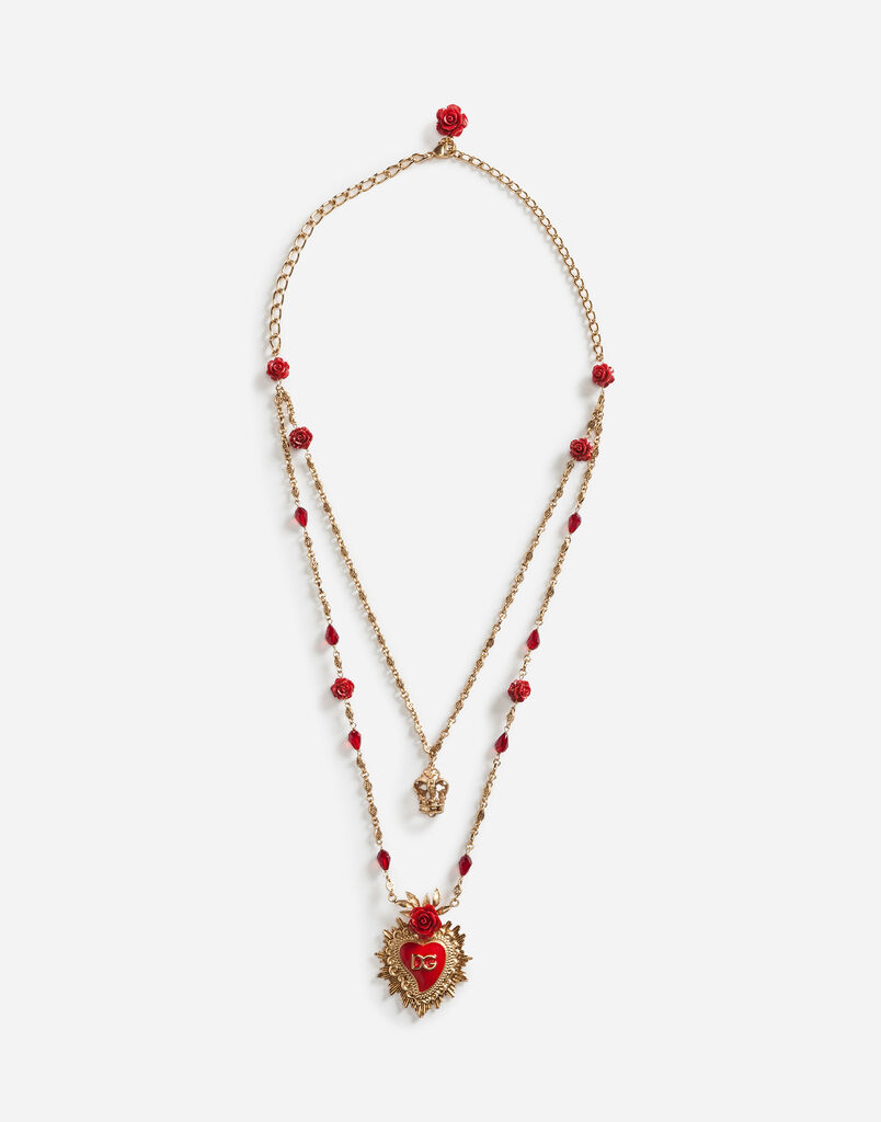 DOUBLE NECKLACE WITH PENDANTS