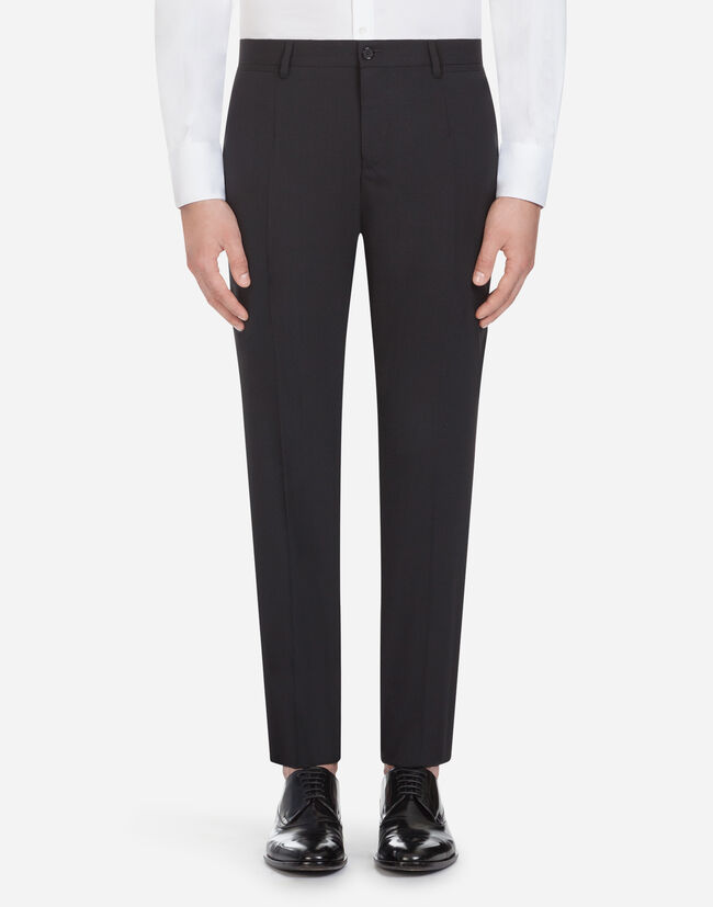 Dolce & Gabbana TROUSERS IN STRETCH WOOL