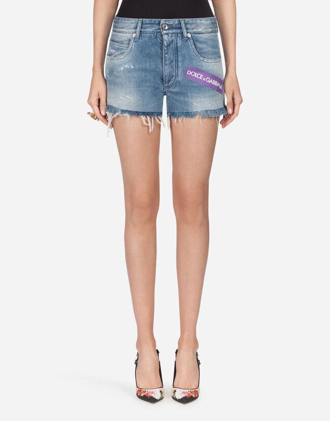 Jeans femme   toutes les coupes denim   Dolce Gabbana - SHORT EN DENIM 168e0953c6ee