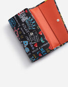 WALLET BAG IN PRINTED DAUPHINE CALFSKIN