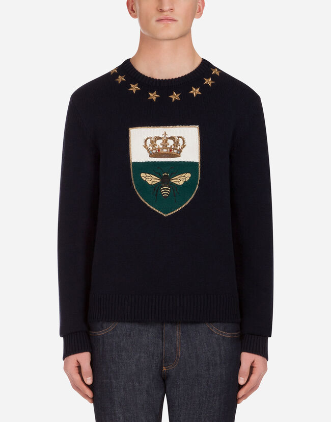 Dolce&Gabbana INTARSIA KNIT IN WOOL AND CASHMERE