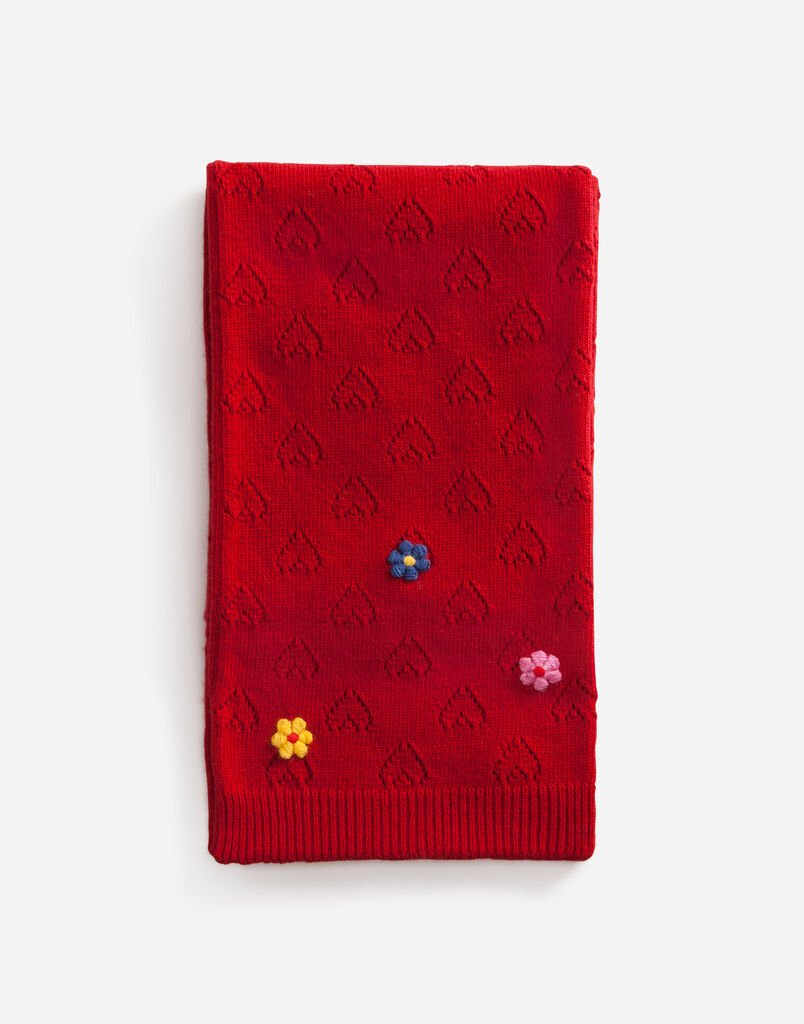 Dolce&Gabbana WOOL SCARF WITH APPLIQUÉ