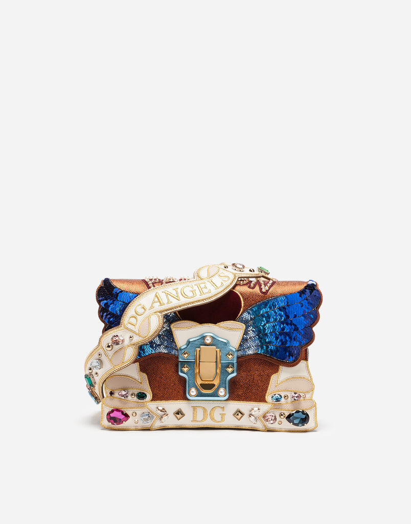 Dolce&Gabbana LUCIA SHOULDER BAG WITH PATCHES AND EMBROIDERIES