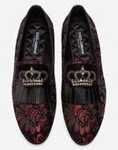 Dolce&Gabbana JACQUARD LOAFERS WITH FRINGE
