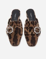 VELVET SLIPPERS WITH BEJEWELED BUCKLE
