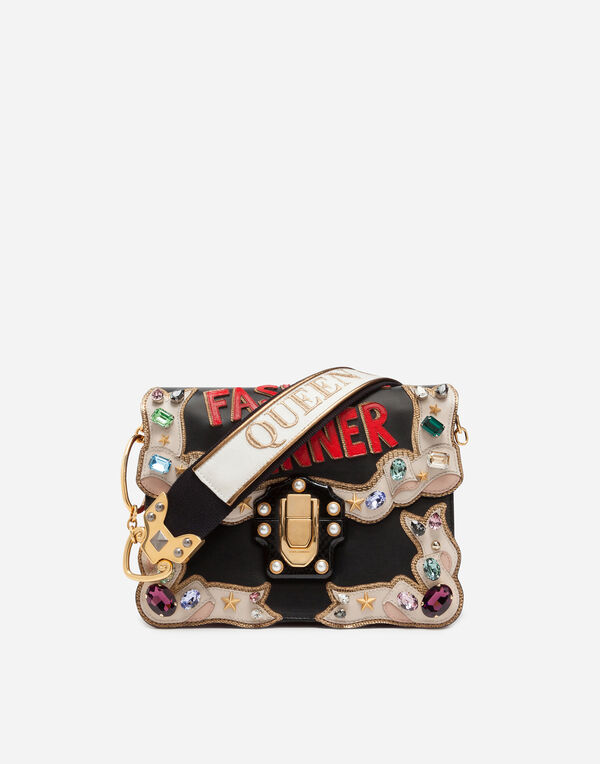 Dolce&Gabbana LUCIA SHOULDER BAG WITH EMBROIDERIES AND APPLICATIONS