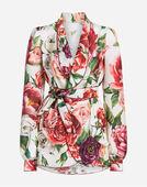 Dolce & Gabbana PEONY-PRINT SILK PAJAMA SHIRT
