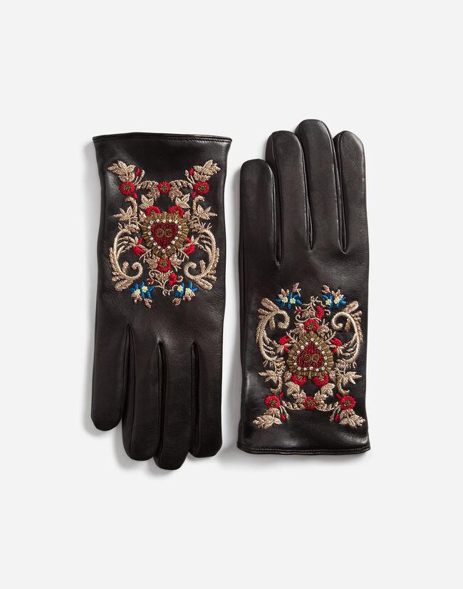 1eace9190248 Dolce   Gabbana ПЕРЧАТКИ С ВЫШИВКОЙ