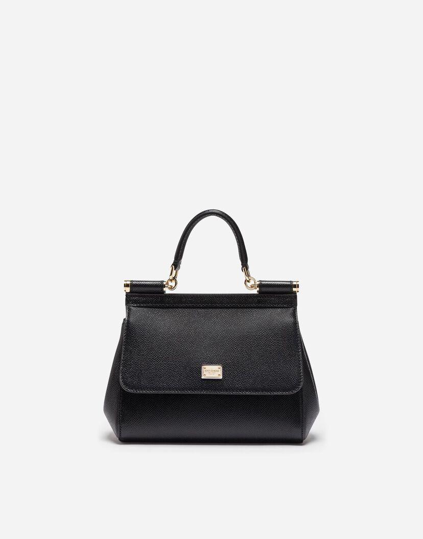 Mini Sacs et Pochettes Femme | Dolce&Gabbana PETIT SAC SICILY EN CUIR DAUPHINE