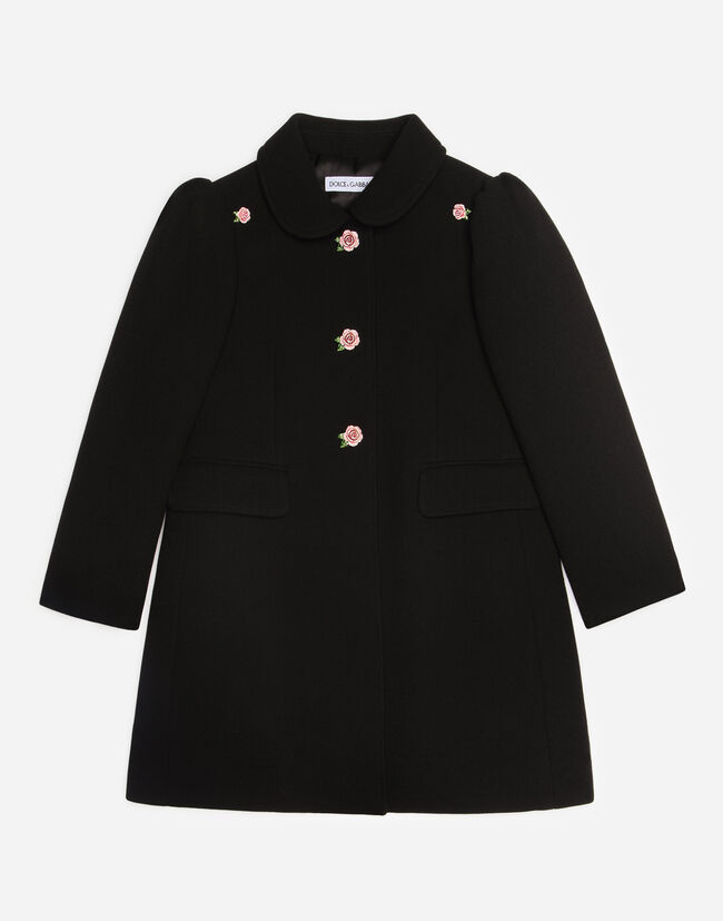 WOOL COAT WITH JEWEL BUTTONS