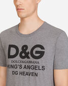 Dolce & Gabbana COTTON T-SHIRT WITH D&G PRINT
