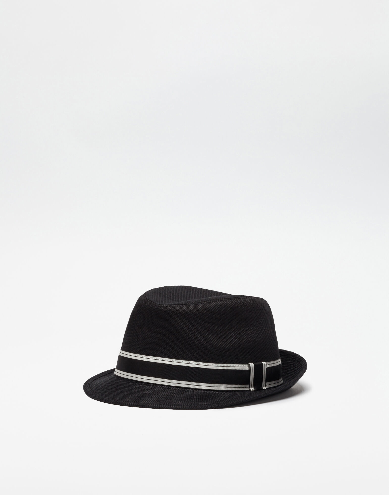 Dolce & Gabbana Trilby Cotton Hat, Black