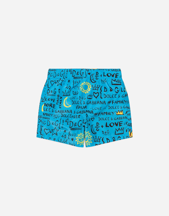 PRINTED BEACH BOXERS