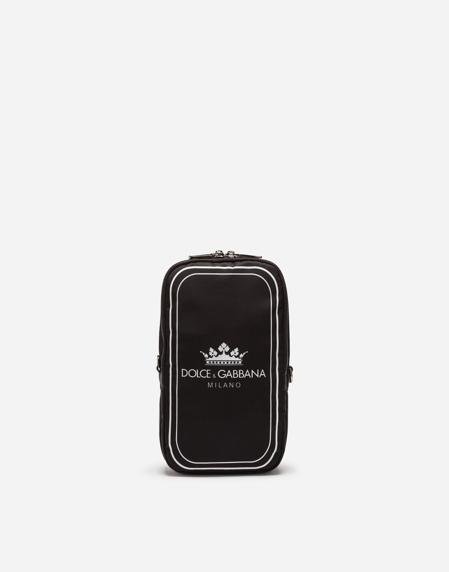 d41225be43 Dolce   Gabbana Men S Logo Crown Nylon Crossbody Sling Backpack In ...