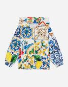 Dolce & Gabbana PRINTED NYLON WATERPROOF JACKET