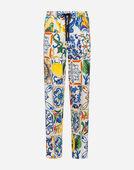 MAJOLICA-PRINT CADY JOGGING PANTS