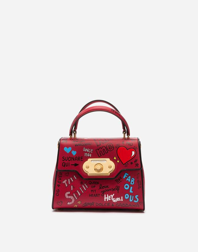 24d3ef4f4f4 Women s Handbags   Dolce Gabbana - MURAL-PRINT CALFSKIN WELCOME HANDBAG