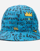 HAT IN PRINTED CANVAS