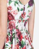 PEONY-PRINT COTTON DRESS