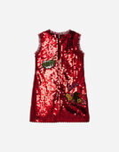 Dolce&Gabbana A-LINE DRESS WITH SEQUINS