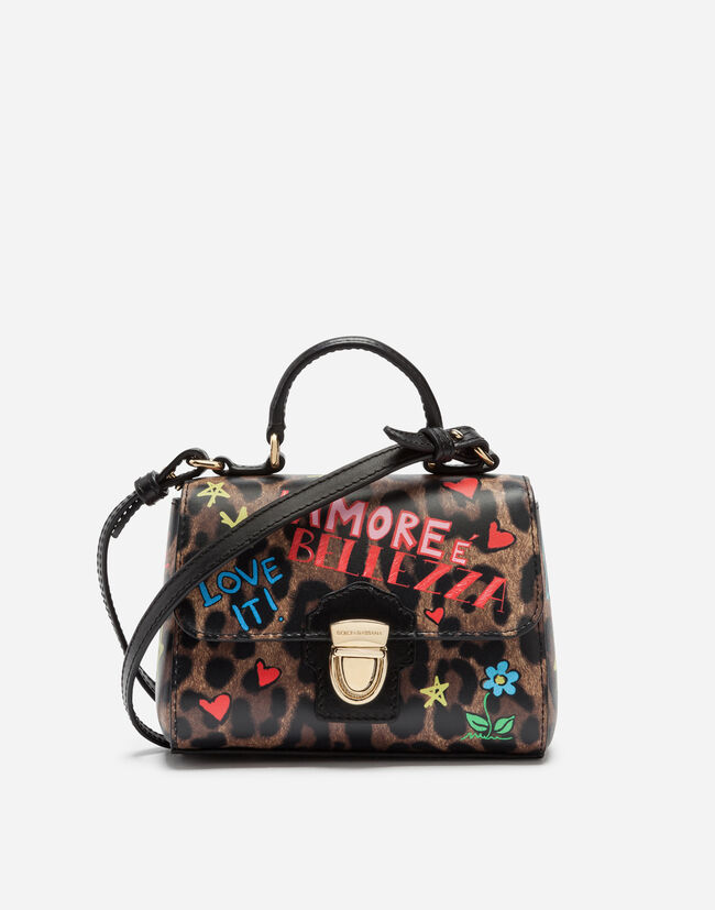 Dolce&Gabbana LEATHER BACKPACK WITH PATCHES