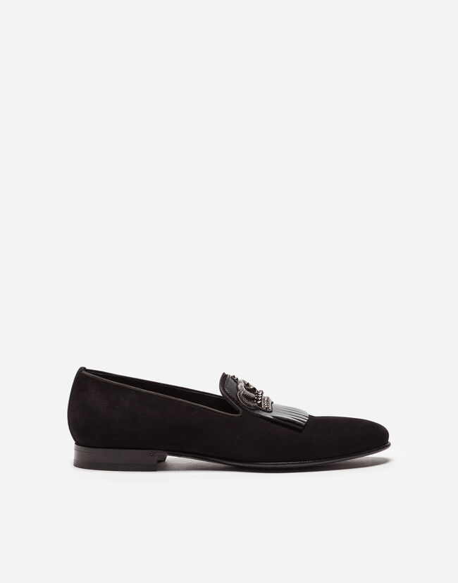 Dolce & Gabbana SUEDE LOAFERS WITH FRINGE