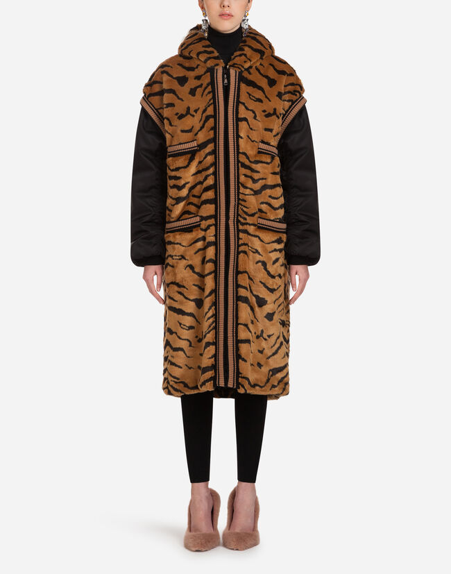 Dolce & Gabbana FAUX FUR COAT