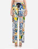 Dolce & Gabbana MAJOLICA-PRINT CADY JOGGING PANTS