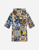 Dolce&Gabbana PRINTED COTTON BATHROBE